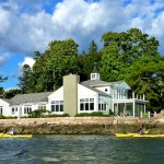 Side view of the b&b from the water